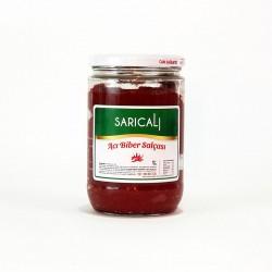 Sarıcalı Acı Biber Salçası 700 Gr Cam Kavanoz | Gurmelon