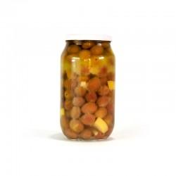 Sarıcalı Zeytinyağında Marineli Yeşil Zeytin 700 Gr  Gurmelon