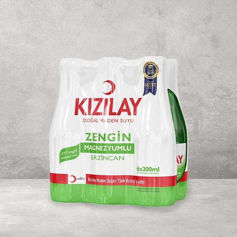 Kızılay Erzincan Doğal Maden Suyu 6X200 Ml   Gurmelon