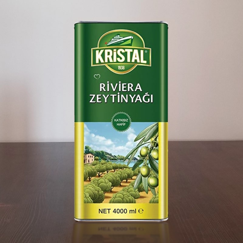 Kristal Riviera Zeytinyağı 4 Lt | Gurmelon